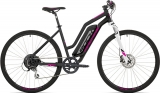 Elektrokolo Rock Machine Cross e350 lady +bat.504 Wh, mat black/silver/pink 2019