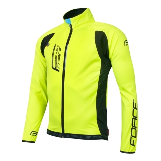 Bunda Force X80 tenký softshell fluo vel. L