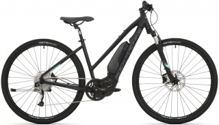 Elektrokolo Rock Machine crossride e500 lady  mat black/mint green/dark grey  2019