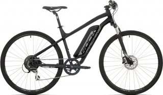 Elektrokolo Rock Machine Cross e350 +bat.504 Wh, mat black/silver/dark grey 2019